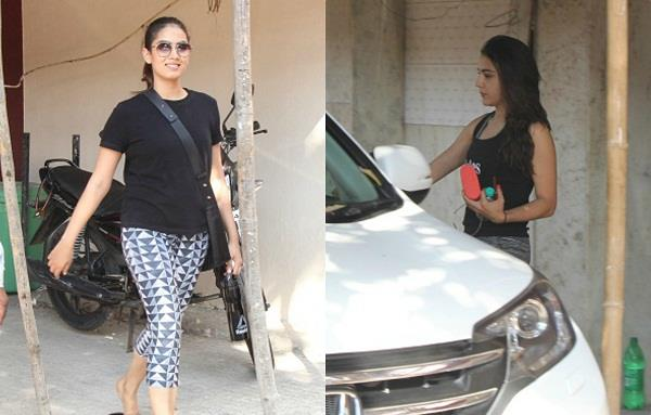 mira rajput sara ali khan gym look