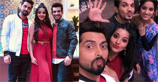 monalisa vikrant singh rajpoot at arjun bijlani reality show kitchen champion