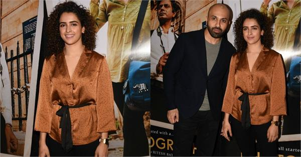 sanya malhotra stylish look at movie trailer launch