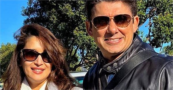 madhuri dixit adorable wish for husband sriram nene on his birthday