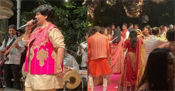 falguni pathak perform in akash ambani wedding celebration