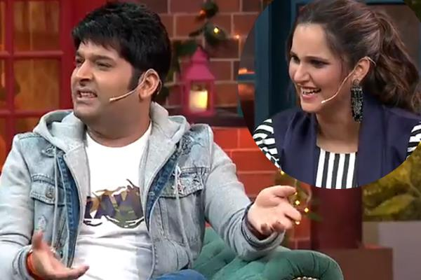 sania asks kapil sharma when he is planning a baby