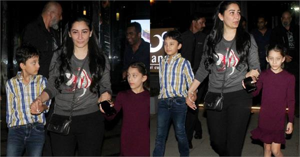 sanjay dutt manyata spotted with their kids