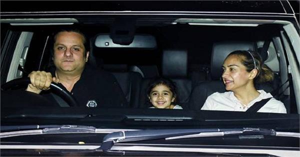fardeen khan dinner date with wife daughter