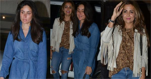 kareena spotted at bandra with amrita