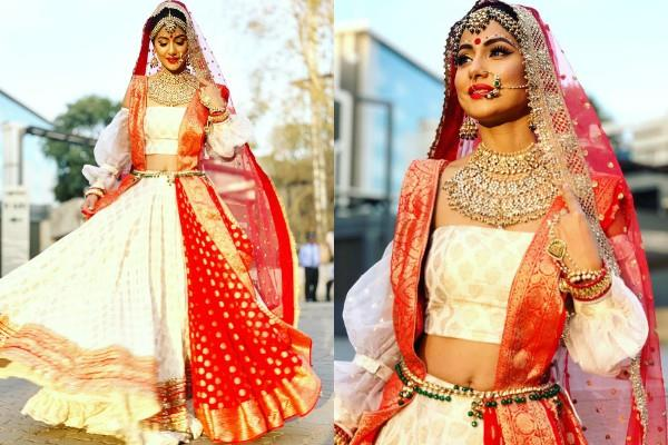 hina khan bengali bride look