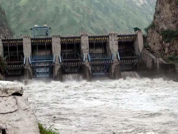 water release from larji dam water level of pandoh dam reached the danger mark