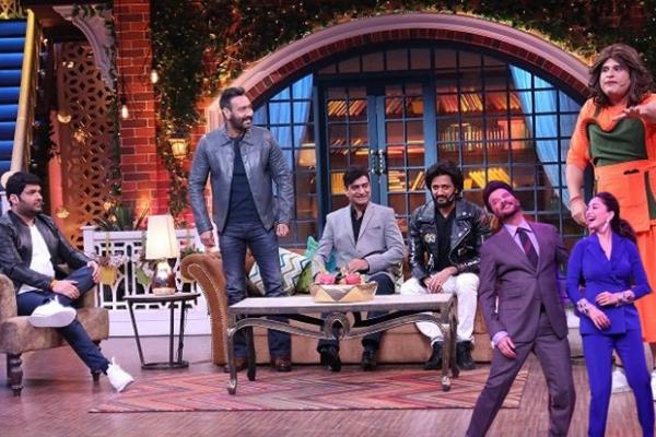 total dhamal team in the kapil sharma show