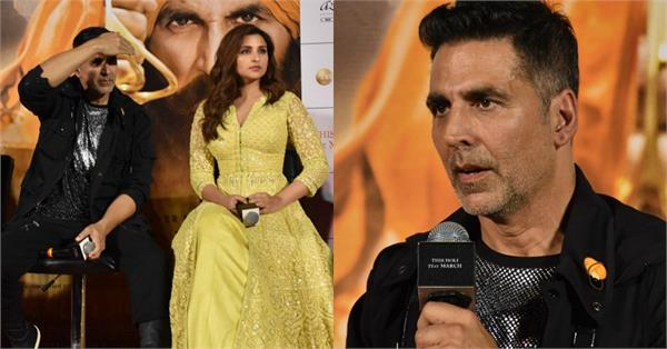 akshay kumar blast on a reporter at a kesari movie event