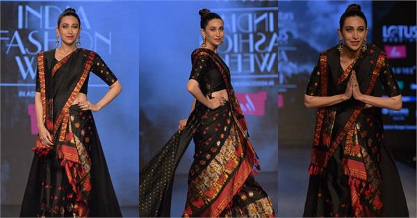 karishma kapoor walks the ramp during global nomad fashion show