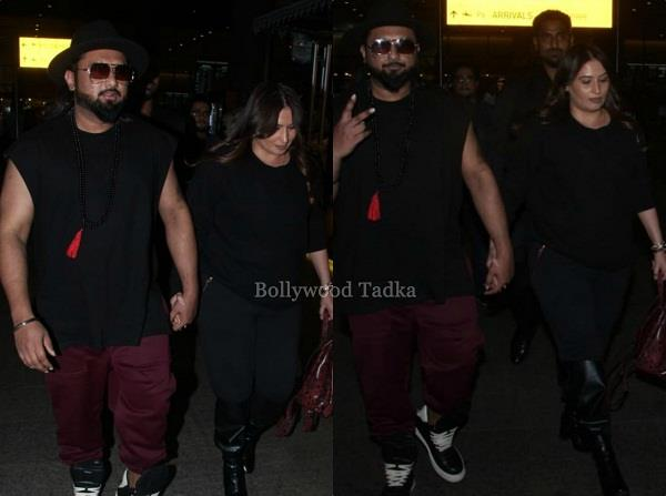 yoyo honey singh spotted with wife