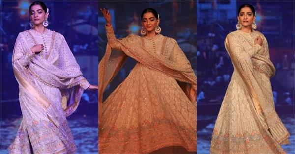 sonam kapoor danced during ramp walk on kalank song