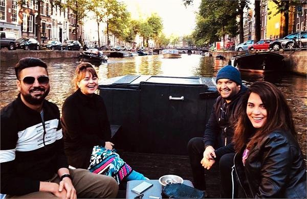 kapil sharma enjoy boat ride with wife ginni chatarth in amsterdam