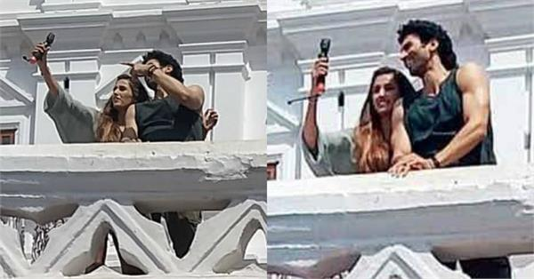 aditya roy kapur and disha patani pictures on set malang