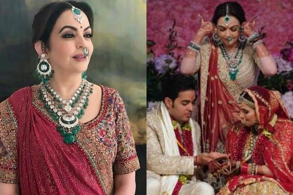 nita ambani wore special dress akash shloka wedding
