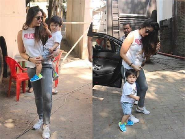 taimur ali khan was snapped outside his house