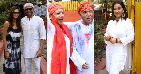 shabana azmi danced in holi party
