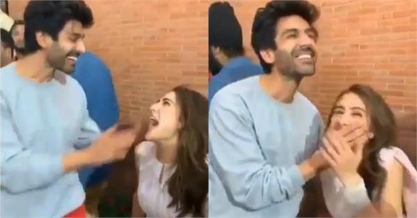 sara ali khan embarrassed kartik aaryan yell his name in public