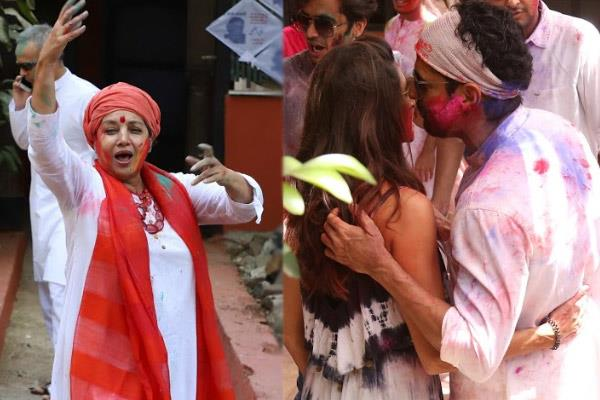 shabana azmi danced in holi party