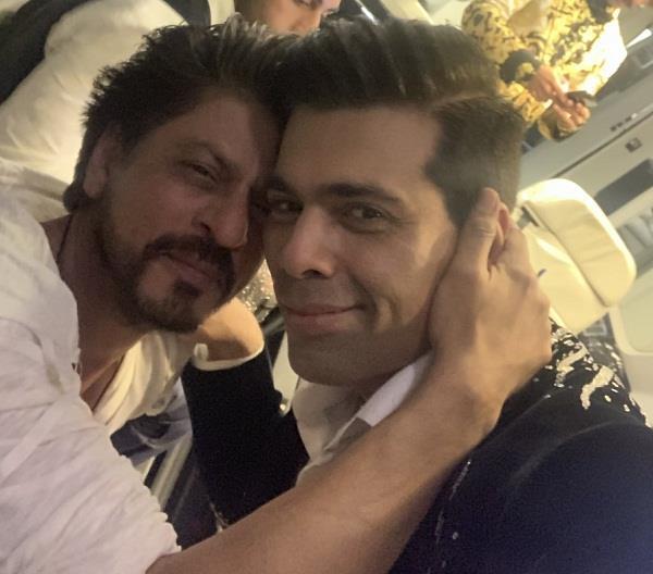 shah rukh khan and karan johar picture
