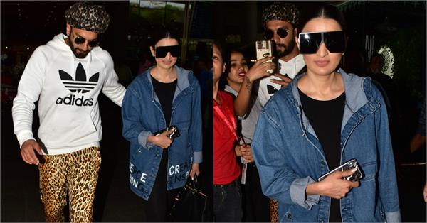 ranveer singh spotted at airport with sister ritika bhavnani