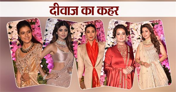 akash shloka reception bollywood acctress glamorous look