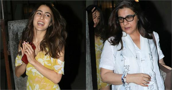 sara ali khan spotted at saloon with mom amrita singh