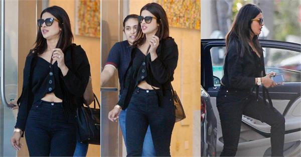 priyanka chopra spotted at california