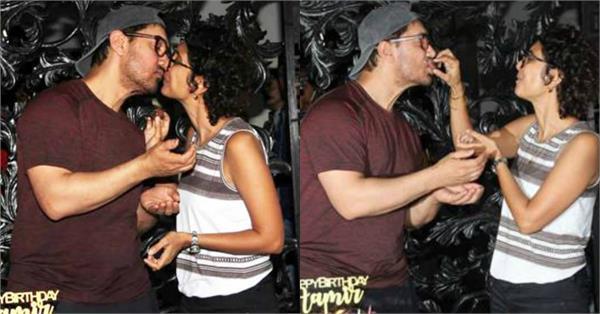 पत्नी को KISS कर आमिर ने सेलीब्रेट किया बर्थडे, कपल का दिखा रोमांटिक अंदाज