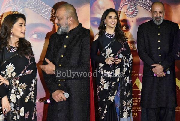 madhuri dixit and sanjay dutt at kalank teaser launch