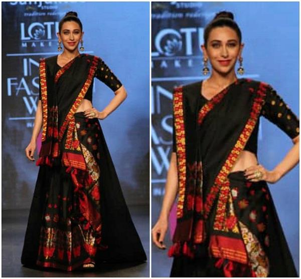 karisma kapoor walked the ramp for lotus makeup india fashion week 2019