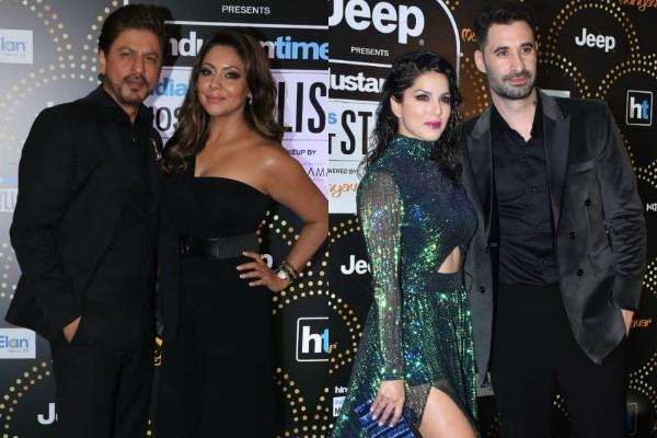 sharukh khan sunny leone at ht india most stylish awards