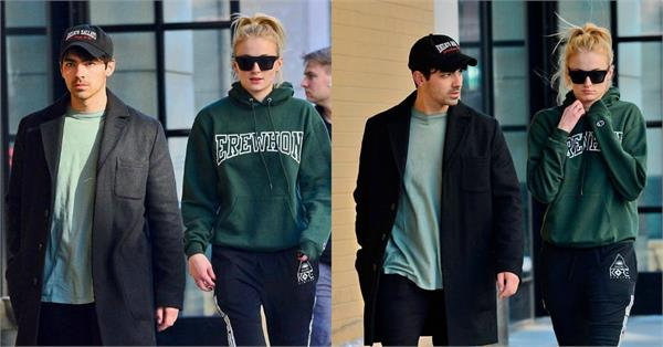 joe jonas spotted at newyork with sophie turner