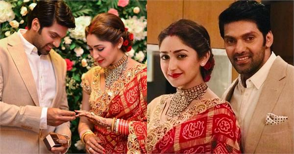 sayyeshaa saigal arya wedding reception pictures
