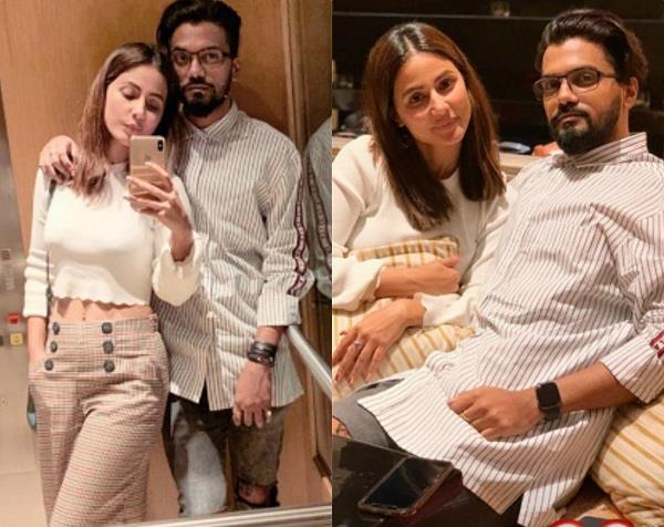 hina khan dinner date with rocky jaiswal
