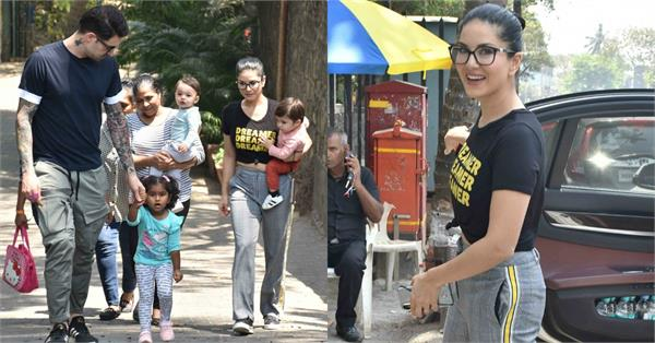 sunny leone with family pictures