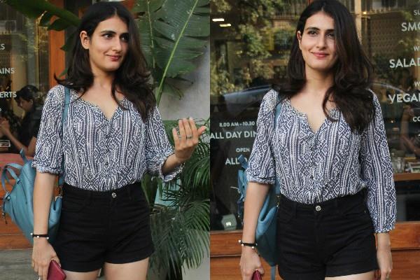 fatima sana shaikh bold look snapped in bandra