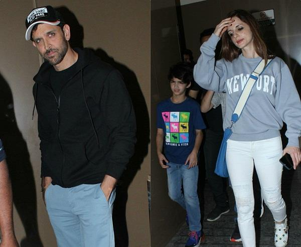 hrithik roshan spotted with wife sussanne khan