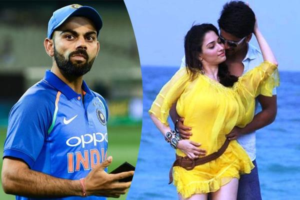 tamanna opens on news of affair with kohli says virat is the best