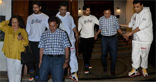 karan johar joined sidharth malhotra parents for dinner