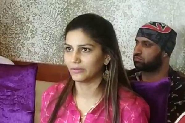sapna chaudhary is lying on the issue of congress joining
