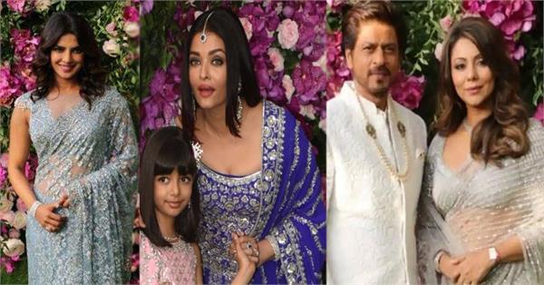 akash ambani wedding shah rukh khan aishwarya rai stunning appearance