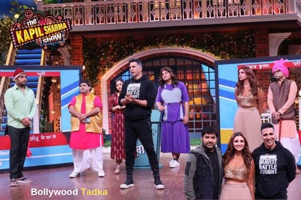 akshay kumar and parineety spot at kapil sharma show