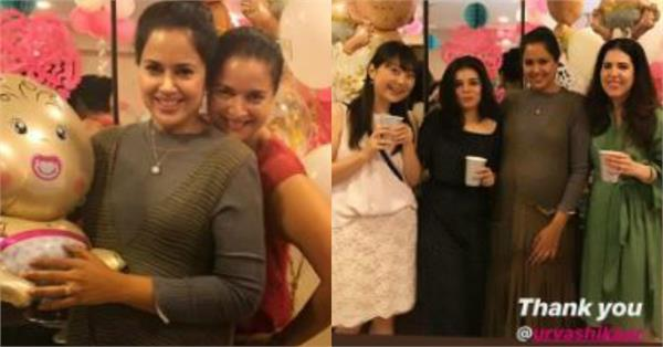 sameera reddy baby shower inside pictures