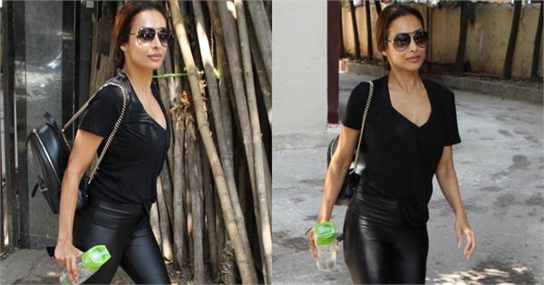 malaika arora spotted at gym