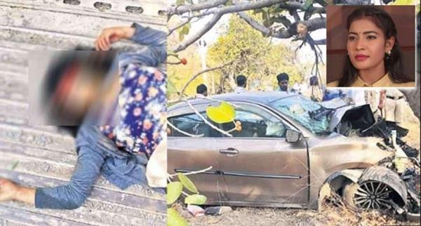 telugu actress died in road accident