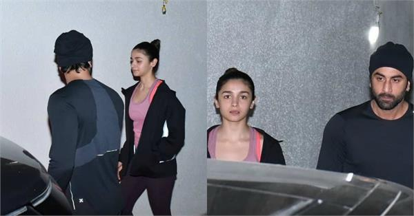 alia bhatt spotted with ranbir kapoor at old dharma office