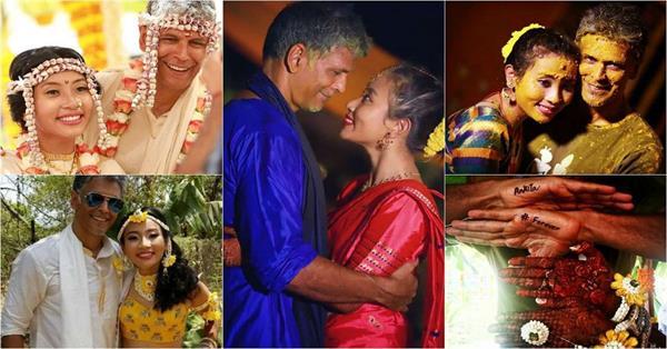 milind soman ankita konwar first wedding anniversary