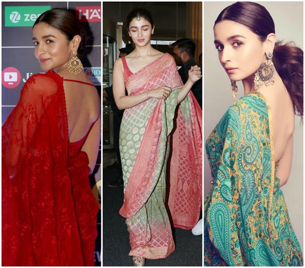 alia bhatt s 5 best saree look