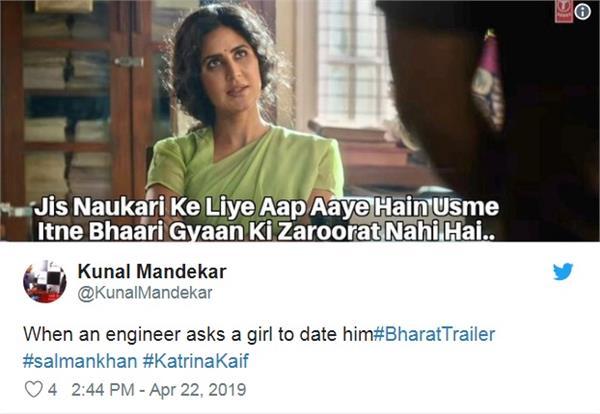 bharat movie trailer memes got viral on social media